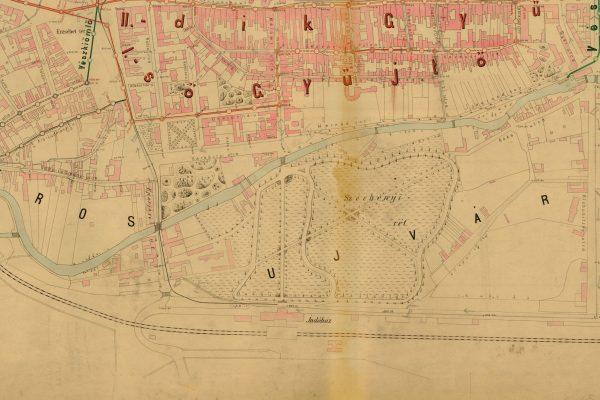Mapa Mlynského náhonu 1888